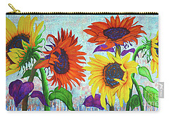 Sunflowers For Elise Carry-all Pouch