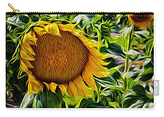 Sunflowers Glaze Carry-all Pouch