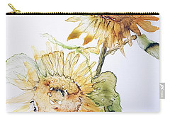 Sunflowers II Uncropped Carry-all Pouch