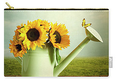 Sunflowers In A Watering Can Carry-all Pouch