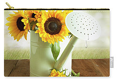 Sunflowers In An Old Watering Can Carry-all Pouch