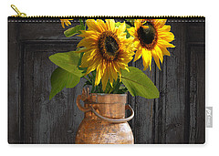 Sunflowers In Copper Milk Can Carry-all Pouch