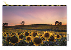 Sunflowers In Pink Carry-all Pouch