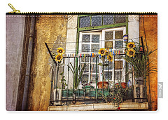 Sunflowers In The City Carry-all Pouch by Carol Japp