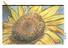 Carry-all Pouch featuring the painting Sunflowers by Jacqueline Athmann