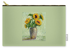 Sunflowers Carry-all Pouch by Jill Musser