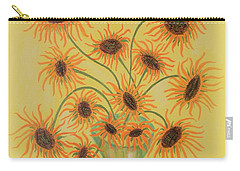 Sunflowers Carry-all Pouch by Marie Schwarzer