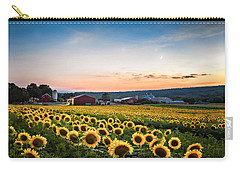 Sunflowers, Moon And Stars Carry-all Pouch