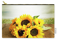Sunflowers On A Table Carry-all Pouch