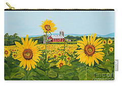 Sunflowers On Route 45 - Pennsylvania- Autumn Glow Carry-all Pouch