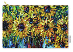 Sunflowers  Palette Knife Carry-all Pouch