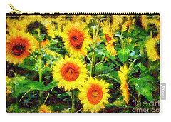 Sunflowers Parade In A Field Carry-all Pouch