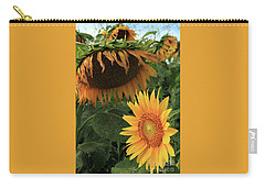 Sunflowers Past And Present Carry-all Pouch