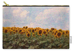Sunflowers Carry-all Pouch by Robin Regan