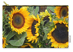 Carry-all Pouch featuring the photograph Sunflowers Two by Chrisann Ellis