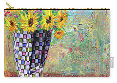 Sunflowers Warmth Carry-all Pouch by Haleh Mahbod