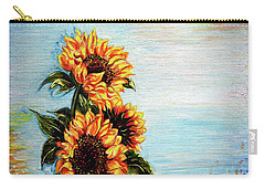 Sunflowers - Where Ocean Meets The Sky Carry-all Pouch
