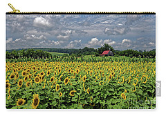 Sunflowers With Barn Carry-all Pouch