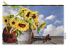 Sunflowers With Violin Carry-all Pouch