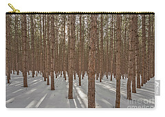 Sunlight Filtering Through A Pine Forest Carry-all Pouch