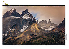 Sunlight On The Mountain Carry-all Pouch by Andrew Matwijec