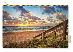 Carry-all Pouch featuring the photograph Sunlight On The Sand by Debra and Dave Vanderlaan