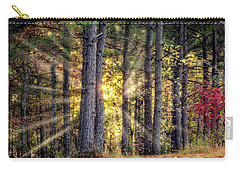 Sunlight Through The Pines Carry-all Pouch by Barry Jones