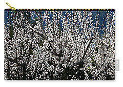 Sunlit Apricot Blossoms Carry-all Pouch by Will Borden
