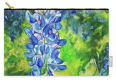 Sunlit Bluebonnet Carry-all Pouch by Karen Kennedy Chatham