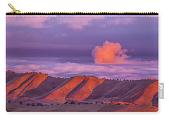Sunlit Hills And Clouds Carry-all Pouch