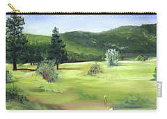 Sunlit Mountain Meadow Carry-all Pouch