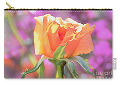 Sunlit Rose Carry-all Pouch by Debby Pueschel