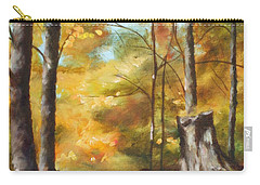Sunlit Tree Trunk Carry-all Pouch