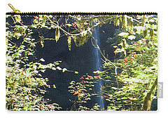 Carry-all Pouch featuring the photograph Sunlite Silver Falls by Thomas J Herring