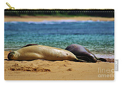 Sunning On The Beach In Hawaii Carry-all Pouch by Craig Wood
