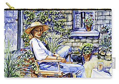Sunny Afternoon With Black Cat Carry-all Pouch by Trudi Doyle