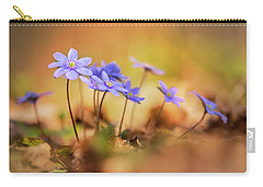 Carry-all Pouch featuring the photograph Sunny Afternoon With Liverworts by Jaroslaw Blaminsky