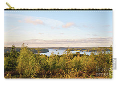 Sunny Autumn View At The Lake Hiidenvesi Carry-all Pouch