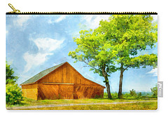 Sunny Barn And Trees Carry-all Pouch