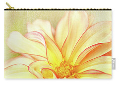 Sunny Dahlia Carry-all Pouch by Beve Brown-Clark Photography
