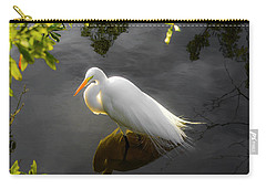 Sunny Egret Carry-all Pouch