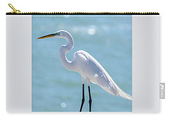 Carry-all Pouch featuring the photograph Sunny Egret by Steven Sparks