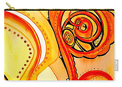 Carry-all Pouch featuring the painting Sunny Flower - Art By Dora Hathazi Mendes by Dora Hathazi Mendes