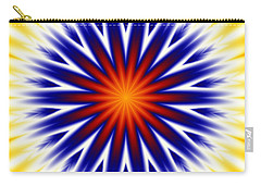 Sunny Fractal Tie Dye Carry-all Pouch