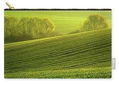 Carry-all Pouch featuring the photograph Sunny Green by Jenny Rainbow