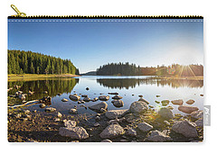 Sunny Landscape Of A Mountain Lake Carry-all Pouch