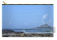 Carry-all Pouch featuring the photograph Sunny Morning At Roads End by Peggy Hughes
