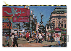 Carry-all Pouch featuring the painting Sunny Piccadilly by Nop Briex