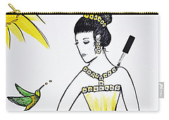 Sunny Princess Talk With Hummingbird Carry-all Pouch