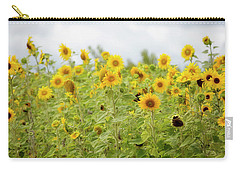 Carry-all Pouch featuring the photograph Sunny Roadside by Rebecca Cozart